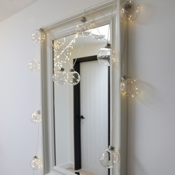 Mains Powered Copper LED Bubble String Lights
