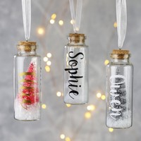 Personalised Bristle Tree in a Bottle Hanging Decoration