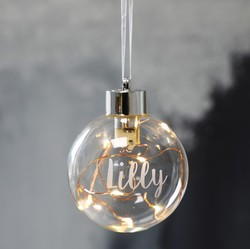 Personalised Copper Wire LED Bauble