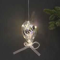 Personalised Small Iridescent Balloon LED Light