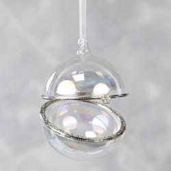 Secret Opening Iridescent Glass Bauble