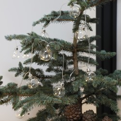 Silver Wire LED Bubble String Lights
