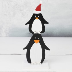 Sass & Belle Standing Penguin Wooden Decoration