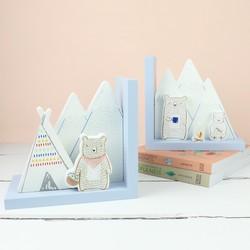 Sass & Belle Wooden Bear Camp Bookends