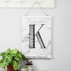 Personalised Sass & Belle Magnetic Hanging Print Frame in White