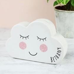 Personalised Sass & Belle Sweet Dreams Cloud Money Box