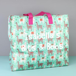 Personalised Sass & Belle Llama Storage Bag