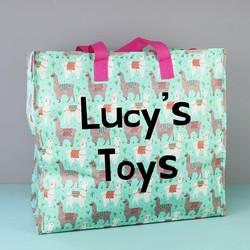 Personalised Sass & Belle Llama Storage Bag