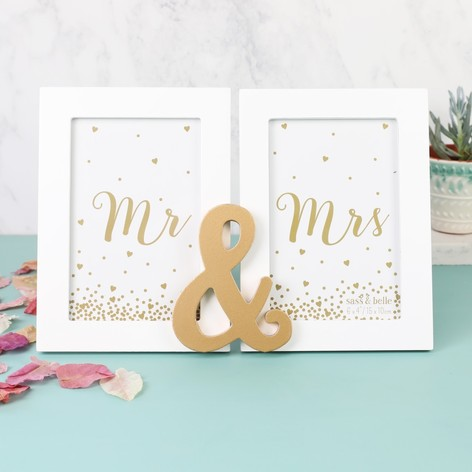sass belle mr mrs double photo frame - Mr And Mrs Frame