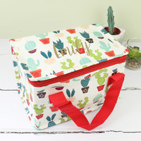 Personalised Colourful Cactus Lunch Bag
