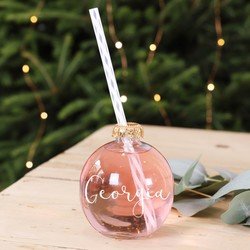 Personalised Festive Bauble Drinking Glass