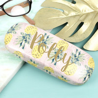 Personalised Vintage Style Pineapple Glasses Case