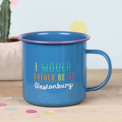 Blue Enamel 'Glastonbury' Mug