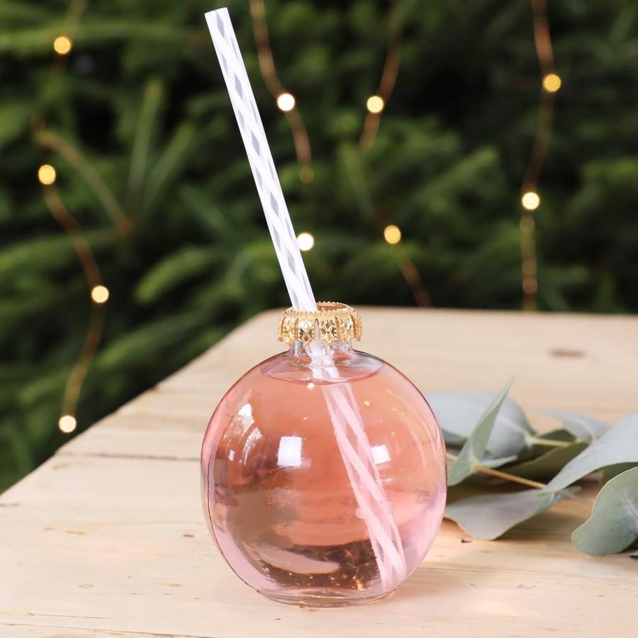 Festive Bauble Drinking Glass  Barware  Lisa Angel