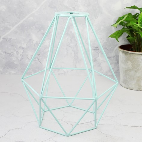 Geometric Lamp Shade In Mint Green Lisa Angel
