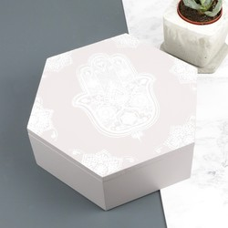 Hamsa Hand Hexagonal Storage Box