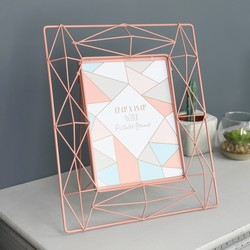 Large Geometric Wire Frame in Pink