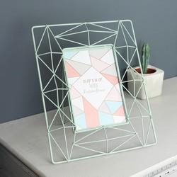 Medium Geometric Wire Frame in Mint Green