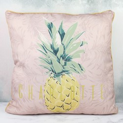 Personalised Vintage Style Pineapple Pattern Cushion