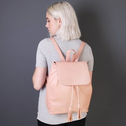 Blush Pink Fold Top Backpack