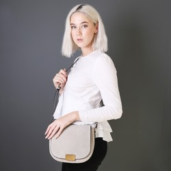 Stone Grey Cross Body Handbag