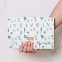 Watercolour Cactus Print Travel Wallet