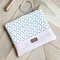 Pink and Polka Dot Wash Bag