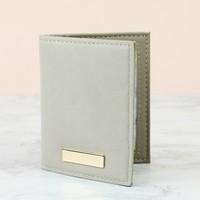 Stone Grey Card Holder