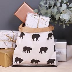 Small Bear Print Sack