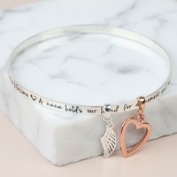 Silver 'Nana...' Meaningful Words Charm Bangle