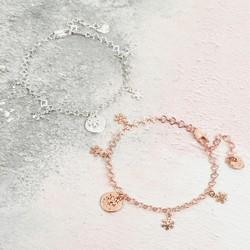 Personalised Snowflake Charm Bracelet