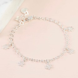 Snowflake Charm Bracelet in Silver