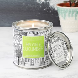 Melon & Cucumber Scented Candle Tin