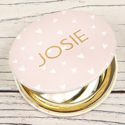 Personalised 'Happiness Looks Gorgeous on You' Compact Mirror