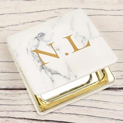 Personalised Marble Compact Mirror