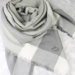 Personalised Grey Tartan Blanket Scarf