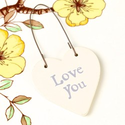 East of India 'Love You' Tiny Little Heart Sign