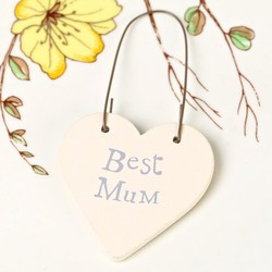 East of India 'Best Mum' Tiny Little Heart Sign