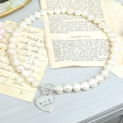 Handmade Large Nugget Pearl 'Memories' Necklace
