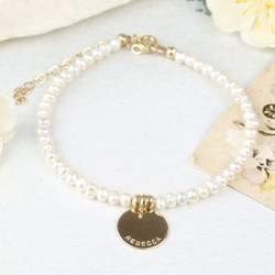 Personalised Delicate Freshwater Seed Pearl Bracelet