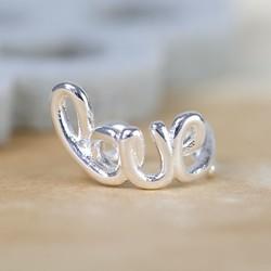 Little Silver Love Ear Cuff