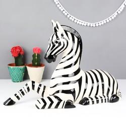 Ceramic Zebra Ornament