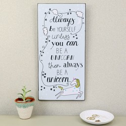 Wooden 'Always Be a Unicorn' Sign