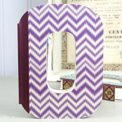 Decorative Letter 'O' Shaped Notebook