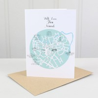 'With Love From Norwich' Postcard Greetings Card