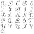 White Ceramic Monogram Mug Font for Initials