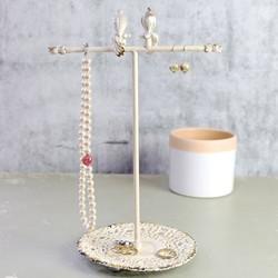 Cream Boudoir Bird Jewellery Stand