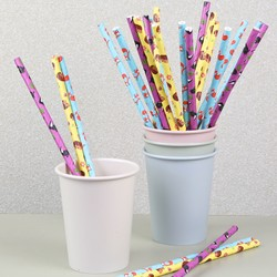 Pack of 25 Paper Animal Straws