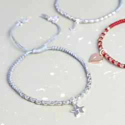Personalised Waxed Cord Friendship Bracelet with Initial