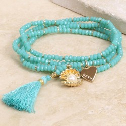 Personalised Wrap Bracelet with Pearl and Tassel